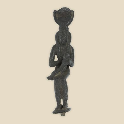 Isis and Horus bronze figure