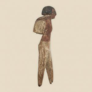 wooden figure carrying sack