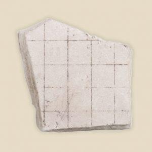 squared limestone fragment