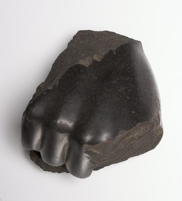 basalt hand from statue