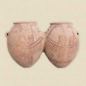 double ship vase