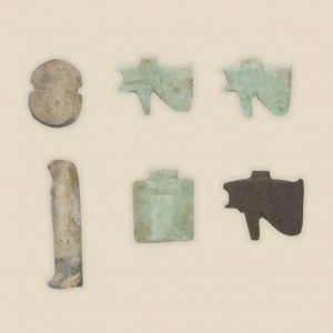 Set of amulets on body