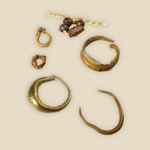 Earrings and bead